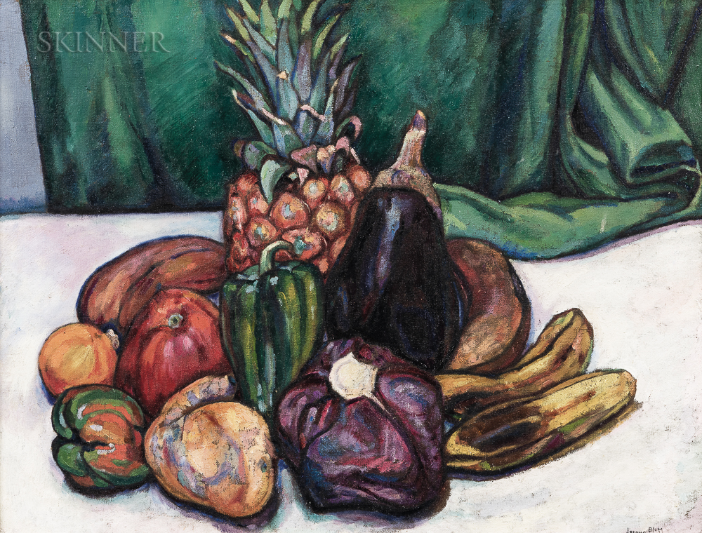 Jerome Blum (American, 1884-1956)    Still Life with Fruit and Vegetables