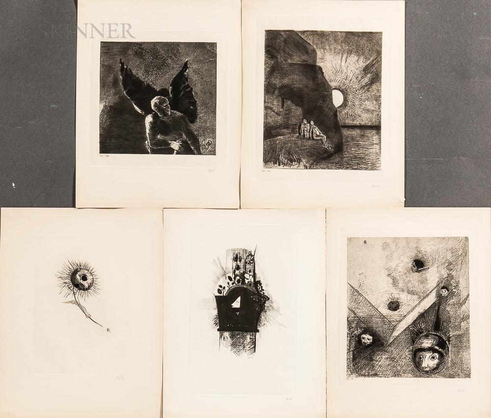 Odilon Redon (French, 1840-1916)      Les Fleurs du Mal