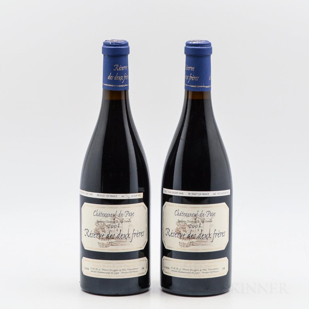 Domaine Pierre Usseglio Chateauneuf du Pape Reserve des Deux Freres 2003, 2 bottles