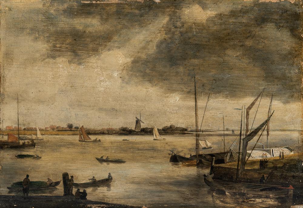 Manner of Willem van de Velde the Younger (Dutch, 1633-1707)      Le port hollandais
