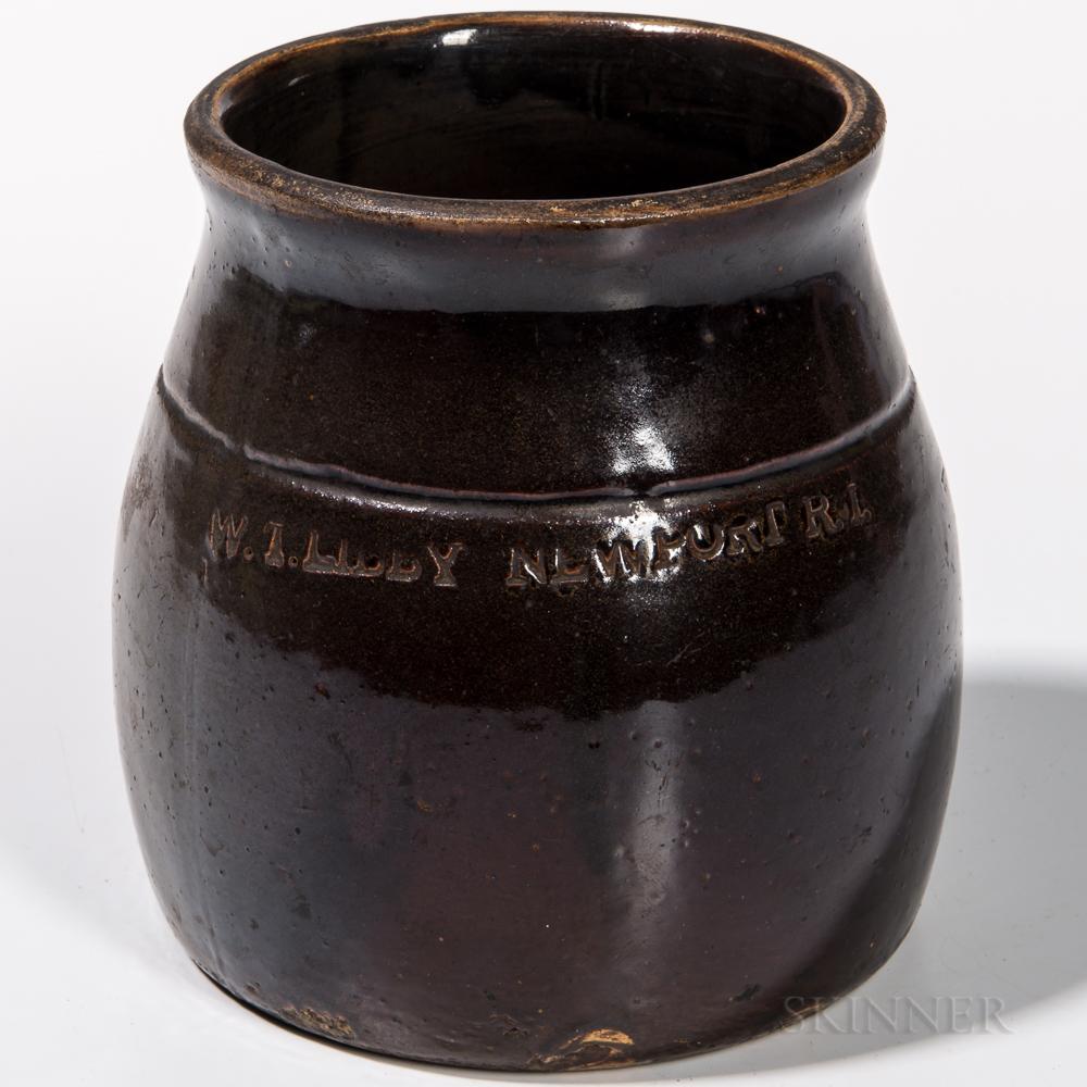 Redware Preserves Jar