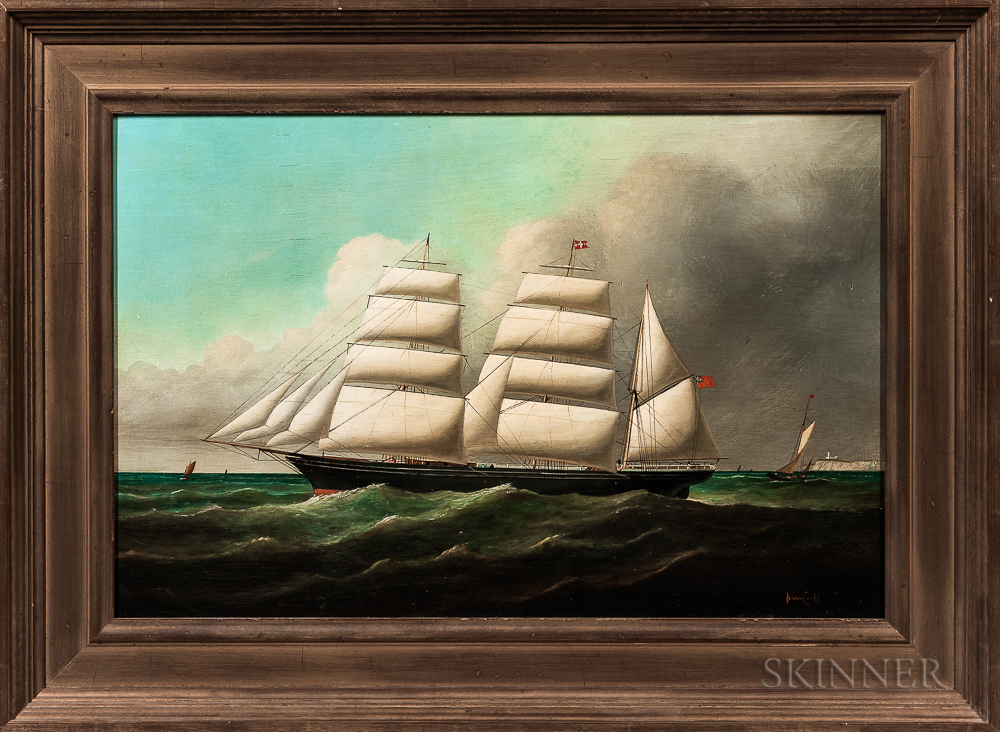 Brian Coole (act. United States/England, b. 1939)      Portrait of a British Schooner