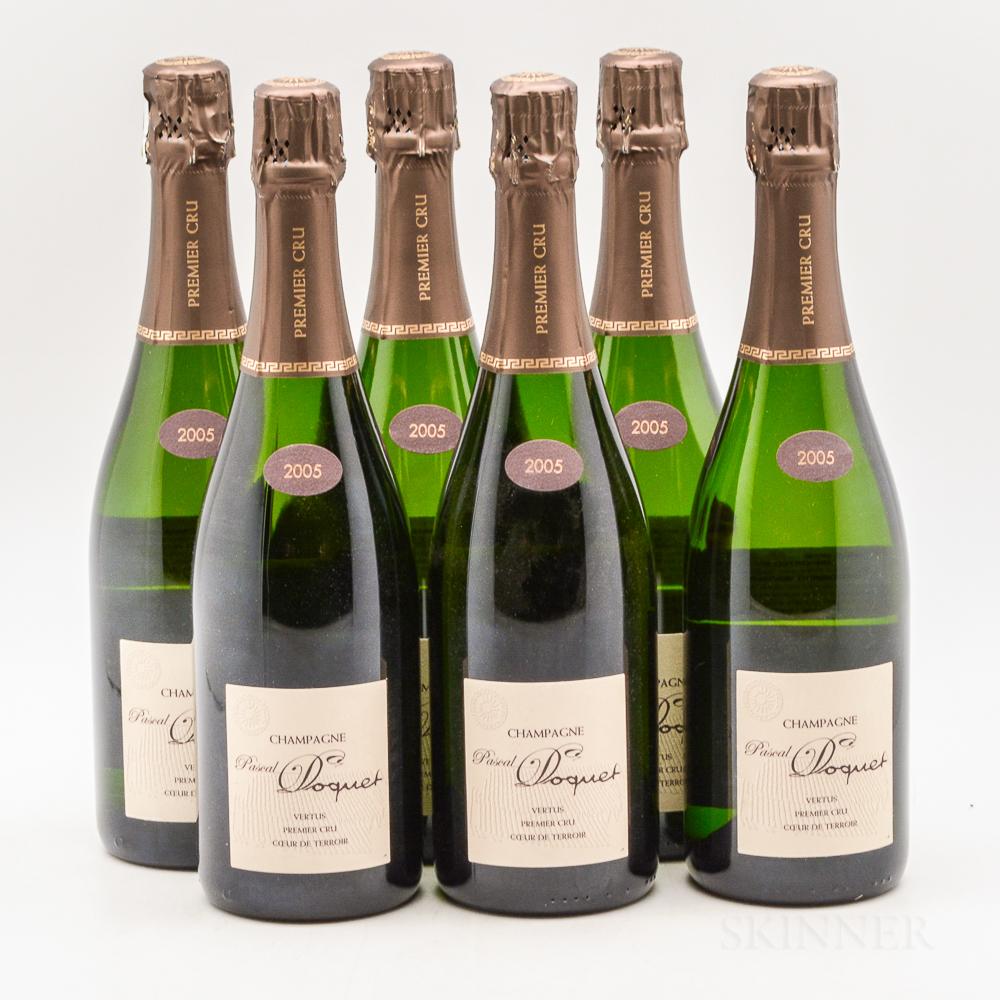 Doquet Coeur de Terroir Vertus 2005, 6 bottles (oc)
