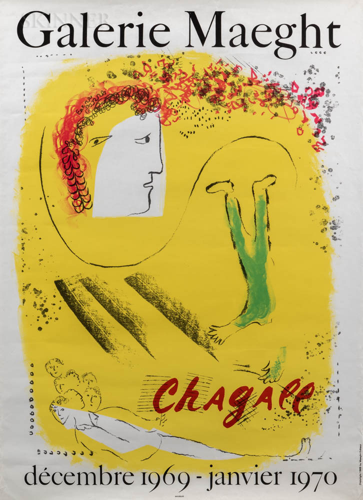 After Marc Chagall (Russian/French, 1887-1985)      Galerie Maeght Chagall (Le Fond Jaune)