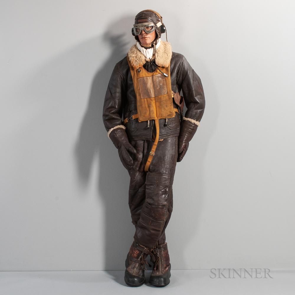 Bomber Pilot's Uniform on a Mannequin