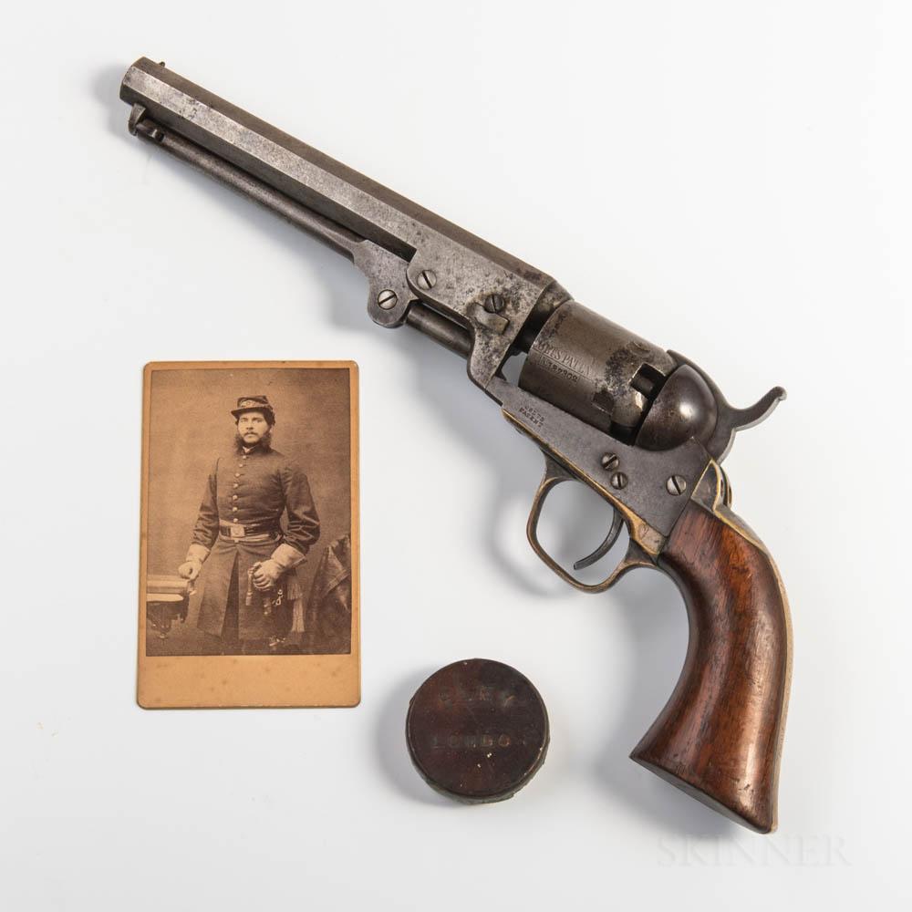 Colt Model 1849 Pocket Revolver Identified to Lieutenant John H. Hutchinson, Company G, 3rd Vermont Volunteer Infantry