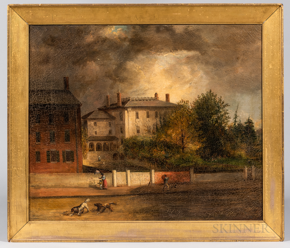 George Loring Brown (Massachusetts/New Hampshire, 1814-1889)      Portrait of The Faneuil-Phillips House, Boston