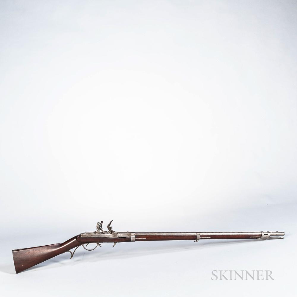 U.S. Model 1819 Hall Breech-loading Flintlock Rifle