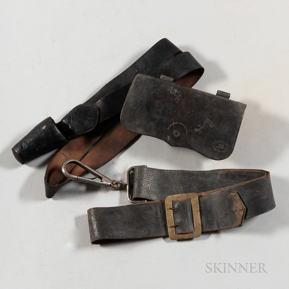 Group of Civil War-era Leather