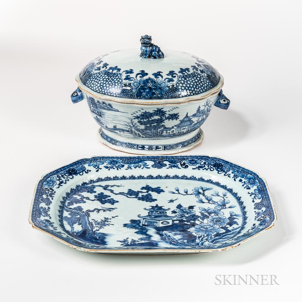 Export Porcelain Tureen and Platter