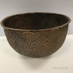 Repousse Copper Bowl