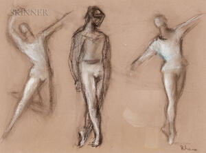 Lisa Rhana, nee Rose Silver (American, 1902-1985)      Framed Study of Dancers