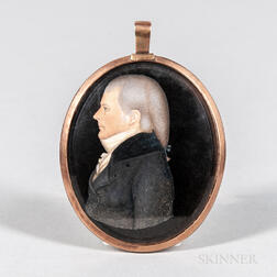 American School, Early 19th Century      Portrait Miniature of Samuel Driggs II