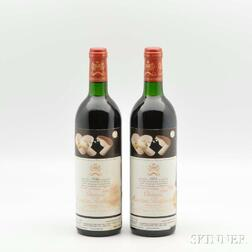 Chateau Mouton Rothschild 1986, 2 bottles