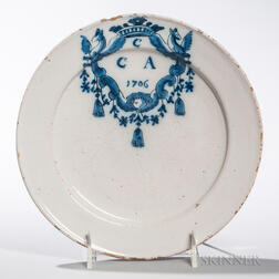 Dated Tin-glazed Earthenware Plate