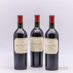 Bryant Family Prichard Hill Cabernet Sauvignon 1992, 3 bottles