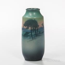 Sally Coyne for Rookwood Pottery Scenic Vellum Vase