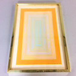 Framed Richard Anuszkiewicz (New Jersey, b. 1930) Geometric Print