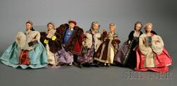 Seven Peggy Nisbet Collector's Costume Dolls