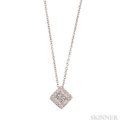 14kt White Gold and Diamond Pendant