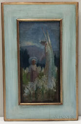 American School, 19th/20th Century      Annunciation to the Young Mary in a Field of Lilies
