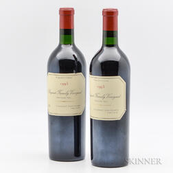 Bryant Family Prichard Hill Cabernet Sauvignon 1993, 2 bottles