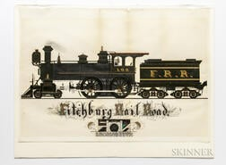 Fitchburg Railroad 100, Original Illustration, 1883.