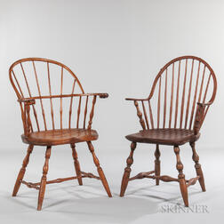 Two Windsor Armchairs