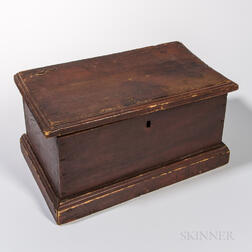 Miniature Red-painted Chest