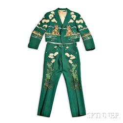 Little Jimmy Dickens     Forest Green Nudie Suit