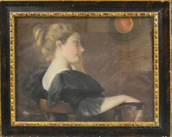 Julia Bacon (American, 1861-1901)      Profile of Young Woman in Black