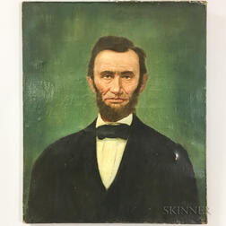 American School, Late 19th Century       Portrait of Abraham Lincoln