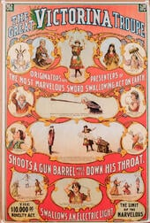 The Great Victorina Troupe. Originators and Presenters of the Most Marvelous Sword Swallowing Act on Earth.