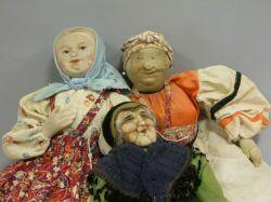 Group of Cloth Dolls