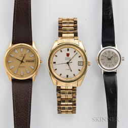 Three Omega Wristwatches