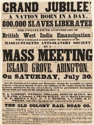 Grand Jubilee! A Nation Born in a Day. 800,000 Slaves Liberated, the Twenty-fifth Anniversary of British West India Emancipation.