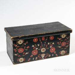 Paint-decorated Pine Box