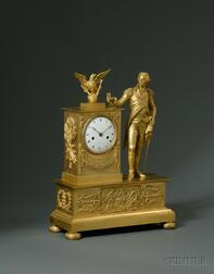 Neoclassical Ormolu French Mantel Clock for the American Market