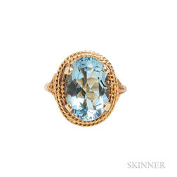 18kt Gold and Aquamarine Ring, Tiffany & Co.