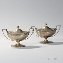 Pair of George III Sterling Silver Sauceboats