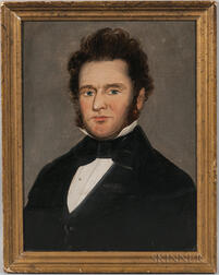 Attributed to William Mathew Prior (Massachusetts/Maine, 1806-1873)       Portrait of a Gentleman