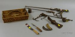 Four 18th and 19th Century Tools and Other Implements and Accessories