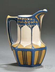 Mettlach Pottery Pitcher