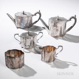 Five-piece Sterling Silver Tea and Coffee Service
