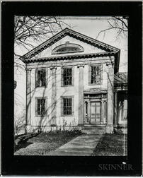 Walker Evans (American, 1903-1975)       Greek Revival House with Half-Lunette Window in Full-Façade Gable, Cherry Valley, New York
