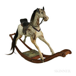 Large Carved and Painted Hobby Horse