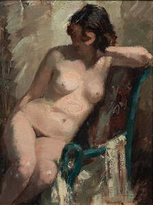 French School, 19th/20th Century      Seated Nude
