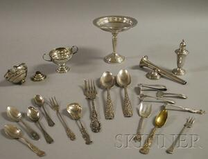 Group of Sterling Flatware and Serving Items