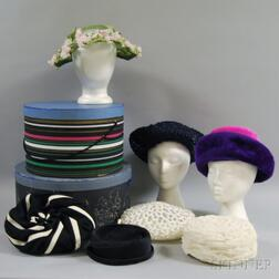 Seven Assorted Vintage Lady's Hats