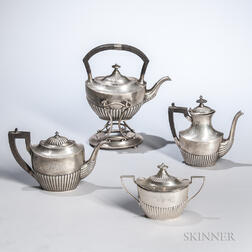 Assembled Four-piece Sterling Silver Tea Service